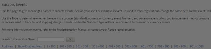 Adobe Analytics events